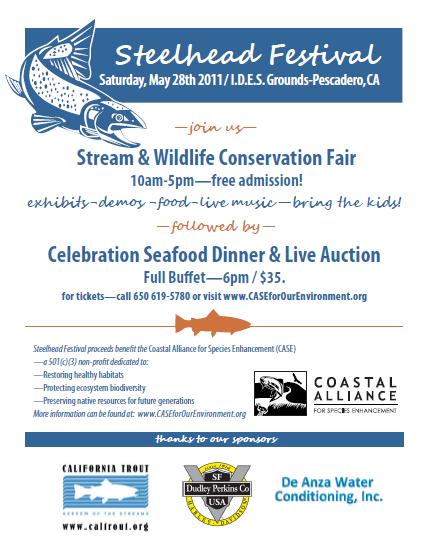 Steelhead Festival, Sat, May28, Pescadero