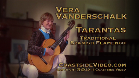 Video: Vera Vanderschalk - Spanish Flamenco guitar - Tarantas