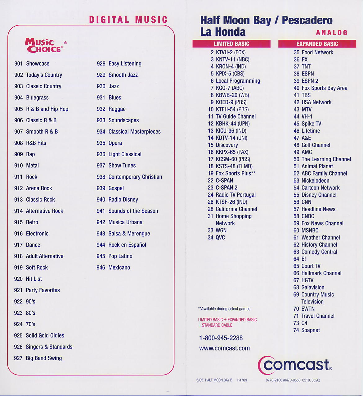 Handy image with printable comcast channel lineup